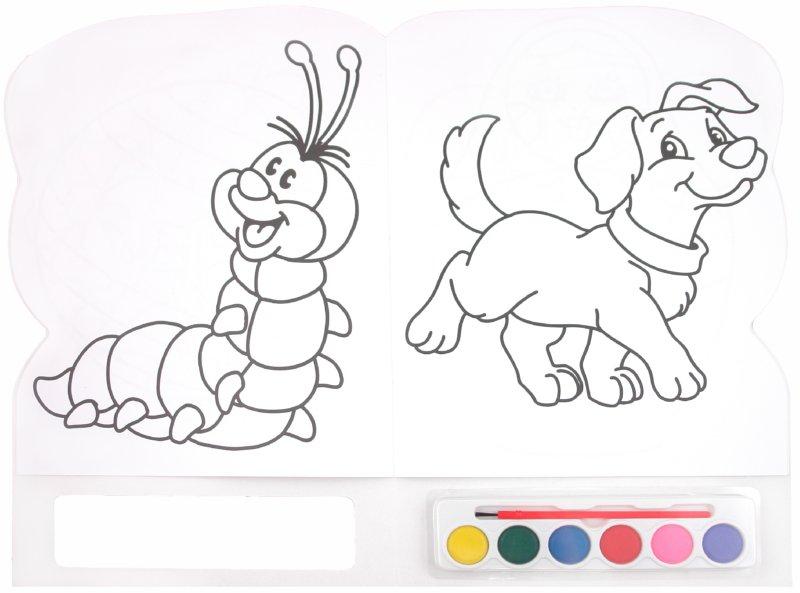 Как красками раскрасить рисунок